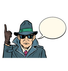 Spy attention gesture vector