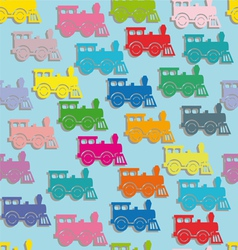 steam colorful locomotives vector image