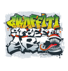 street art concept graffiti style vector image