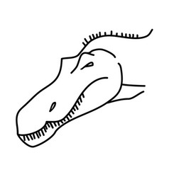 suchomimus icon doodle hand drawn or black vector image