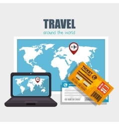 Travel around the world design vector