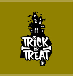 Trick o treat design vector