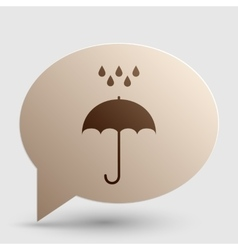 Umbrella with water drops Rain protection symbol vector image