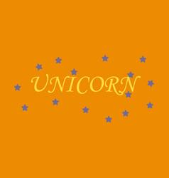 Unicorn horn fairy lettering object vector