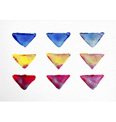 watercolor triangle set hand drawn vector image