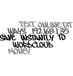 ways to save money instantly online text word vector image