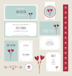 wedding invitation thank you save the date vector image