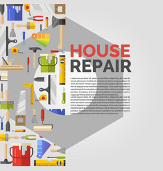 White poster with nut and tools for house repair vector