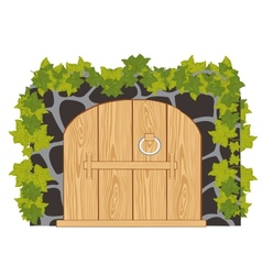 Wooden gates vector image