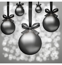 Black Friday glass balls vector image