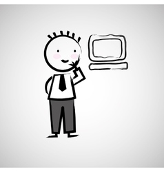 businessman drawing design vector image