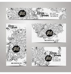 Corporate Identity templates doodles love theme vector image vector image