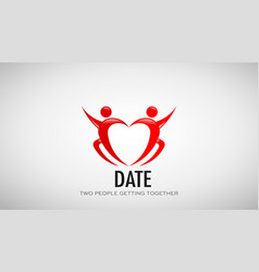 date couple in love design vector image