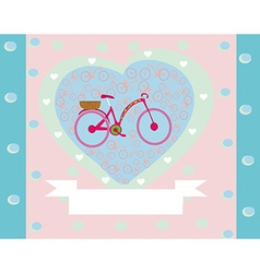 I Love My Bike retro card vector image vector image