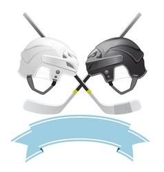 ice hockey emblem vector image vector image