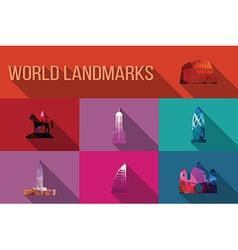 World landmarks famous buildings Europe America vector image vector image