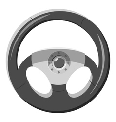 Car rudder icon gray monochrome style vector image vector image