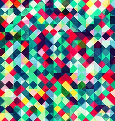 colored pixels seamless pattern vector image