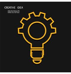 Creative light bulb with gear concept idea conce vector image vector image
