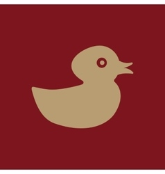 Duck icon design toy and animal duck symbol vector