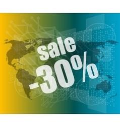 Management concept sale words on digital screen vector image