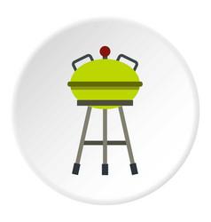 barbecue grill icon circle vector image