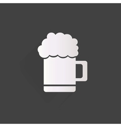 Glass of beer web icon vector image