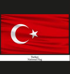 National flag of turkey vector