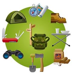 tourism equipment icon vector image
