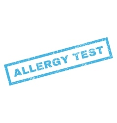 Allergy Test Rubber Stamp vector image vector image