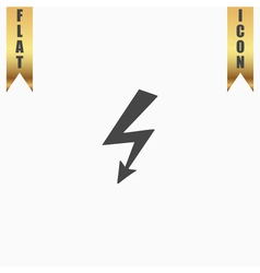 bolt flat icon vector image vector image