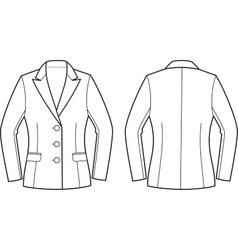 Women business jacket vector image