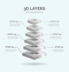 3d layers infographics 04 vector