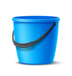 3d plastic bucket for washing cleaning vector image