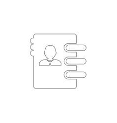 address book flat icon vector image