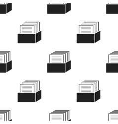 Archive icon black single education icon from vector