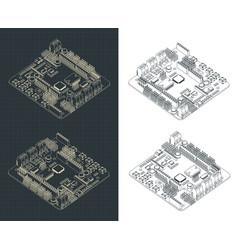 Arduino romeo v2 drawings vector