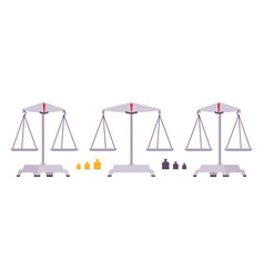 balance scales with weights vector image