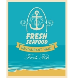 banner for a seafood restaurant vector image