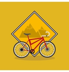 bike and cycling related icons image vector image