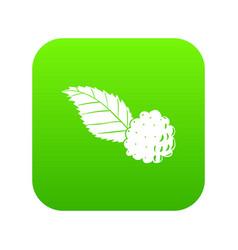 blackberry icon green vector image