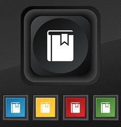 Book bookmark icon symbol Set of five colorful vector image