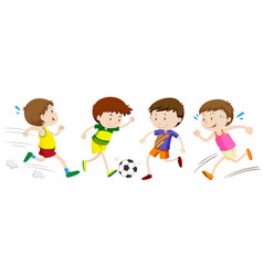 boys playing different sport vector image