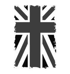 British flag t shirt graphics black vector image