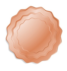 Bronze medal that can be used as a seal the price vector