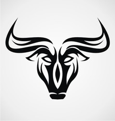 Bulls Head Tattoo vector