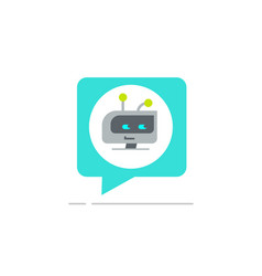 Chatbot in chatting bubble speech icon vector