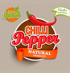 Chilli pepper logo vector