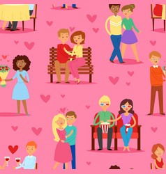 couple in love lovers characters in lovely vector image