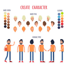 Create character banner in casual style vector